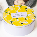PRE-Order for late Jan dispatch - Personalised Luxury Lemon Cake TinClouds and Currents