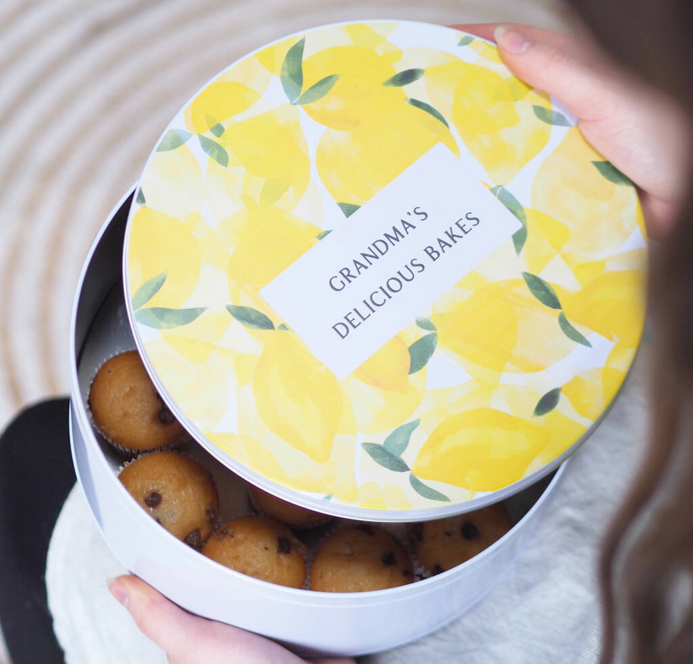 Personalised Luxury Lemon Cake Tin