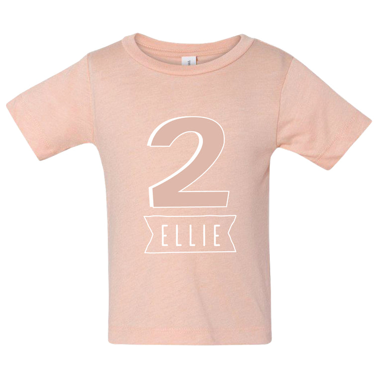 Kid's Age Birthday Celebration T-Shirt