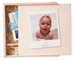 NEW Personalised Photo New Baby Memory BoxClouds and Currents