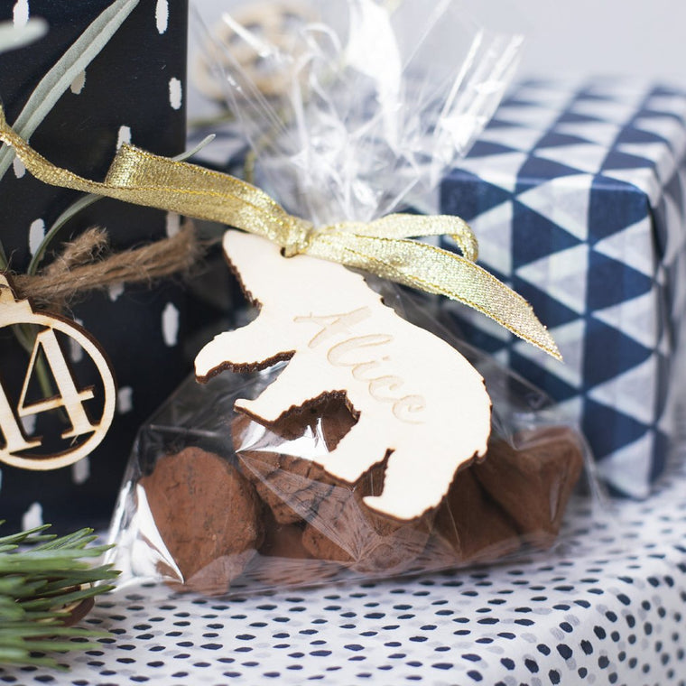WOODLAND BEAR GIFT TAG