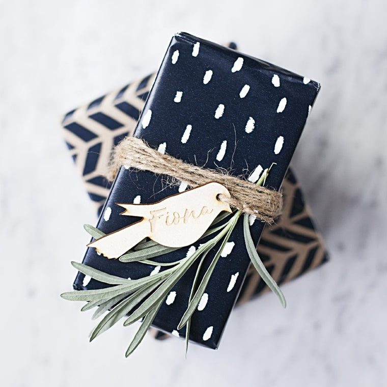 Wooden Bird Gift Tag