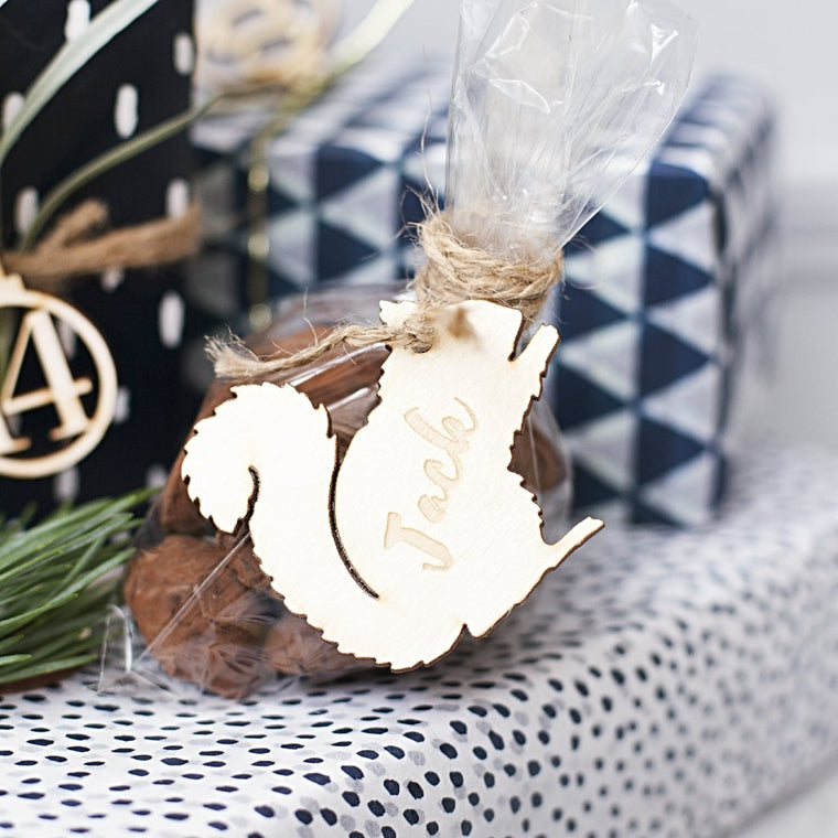 WOODLAND SQUIRREL GIFT TAG