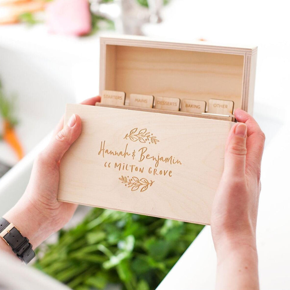 Floral New Home Recipe Box