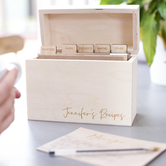 MODERN WOODEN RECIPE BOX-clouds-and-currents