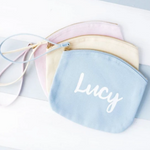 CLEARANCE Name Pastel Makeup Bag
