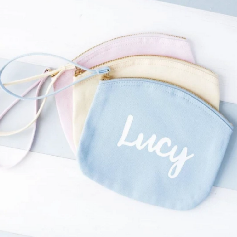 CLEARANCE 'JESS' NAME PASTEL MAKEUP BAG
