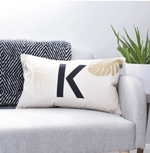 CLEARANCE 'K' Tropical Initial Cushion With New Baby ReverseClouds and Currents