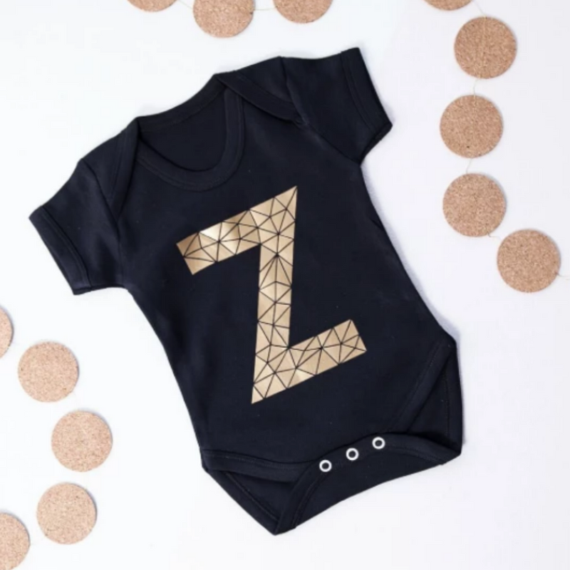 '1' GEOMETRIC AGE/NUMBER BABY GROW 6-12 MONTHS-clouds-and-currents