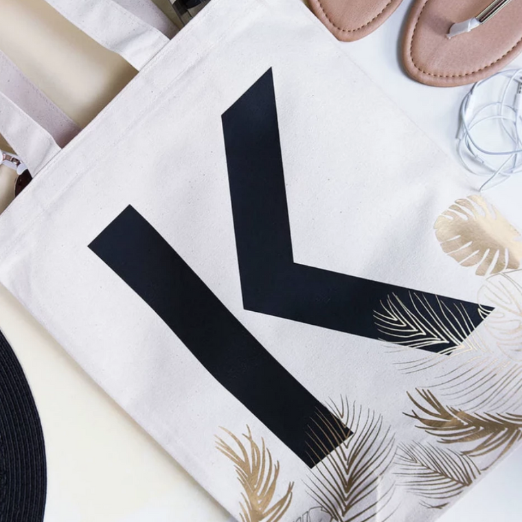 CLEARANCE 'H' INITIAL TROPICAL TOTE BAG