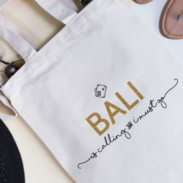 'BALI' IS CALLING DESTINATION TOTE BAG