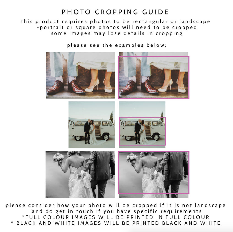 Personalised Photograph Wedding Day Guest BookClouds and Currents