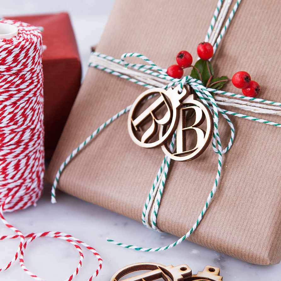 Christmas Bauble Gift Wrap Tags