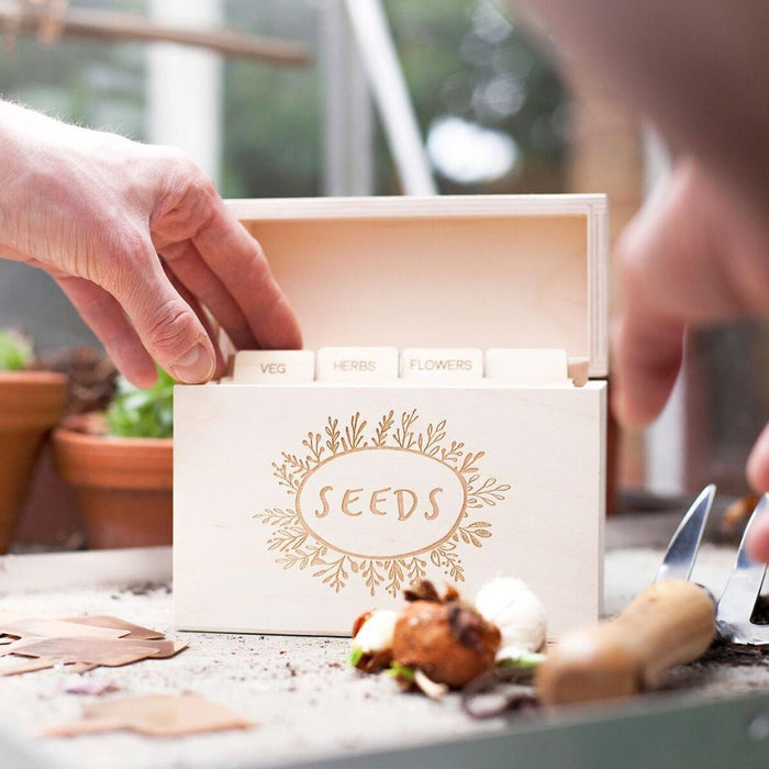 WOODEN GARDEN SEED BOX-clouds-and-currents
