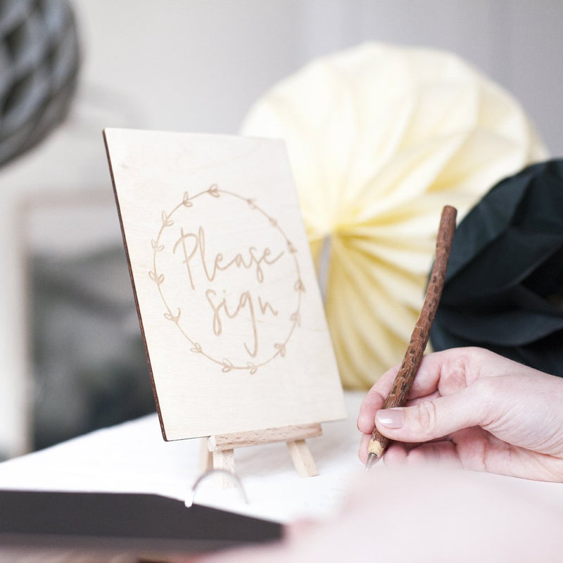 WREATH WEDDING GUEST BOOK SIGN-clouds-and-currents