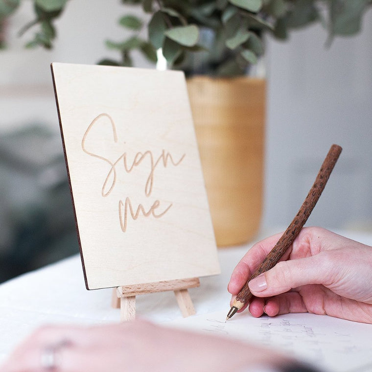 SIMPLE WEDDING GUEST BOOK SIGN