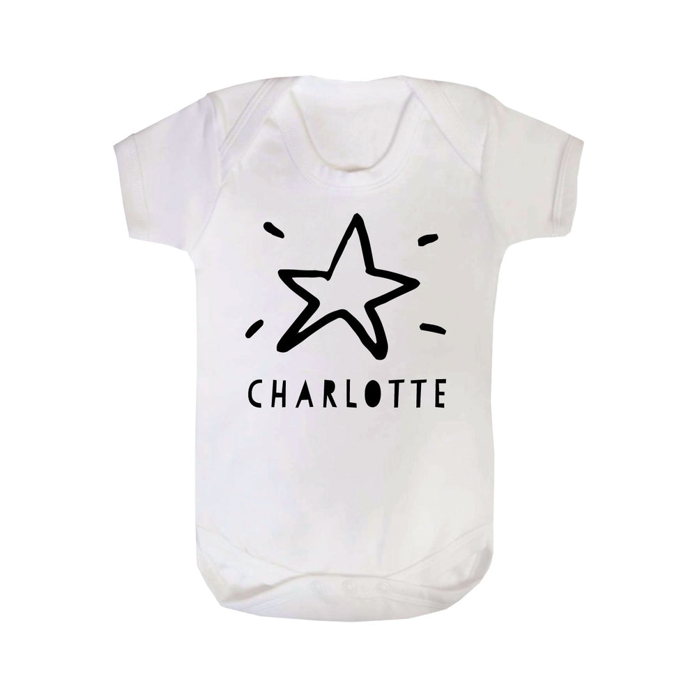 Personalised Christmas Star Babygrow