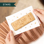Personalised Wooden Ticket Gift CardClouds and Currents