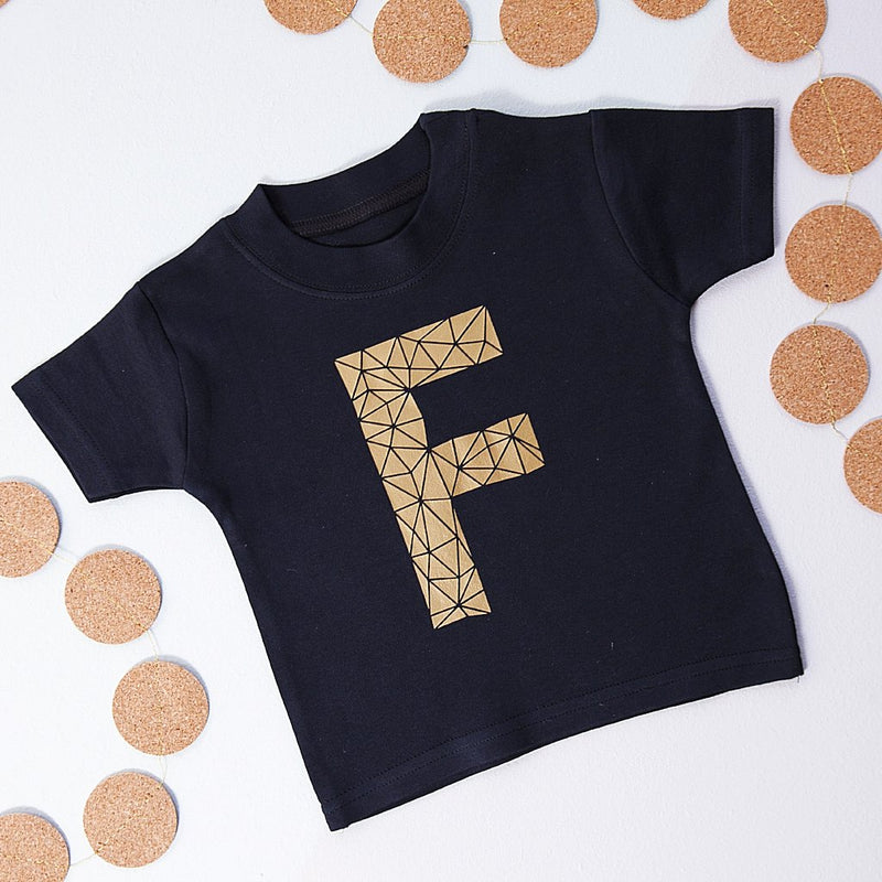 GEOMETRIC INITIAL T-SHIRT-clouds-and-currents