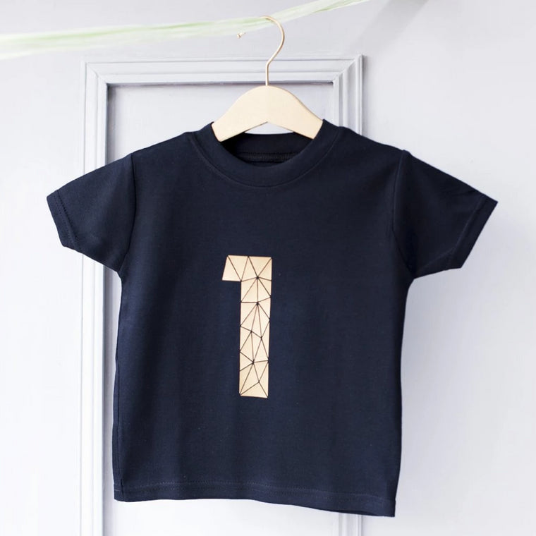 CLEARANCE Kids Geometric Age Number T Shirt