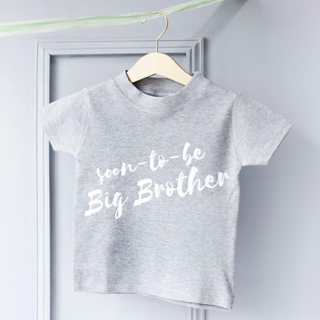 BIG BROTHER BABY ANNOUNCEMENT T-SHIRT-clouds-and-currents