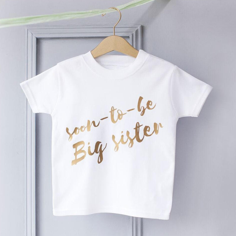 BIG SISTER BABY ANNOUNCEMENT T-SHIRT-clouds-and-currents
