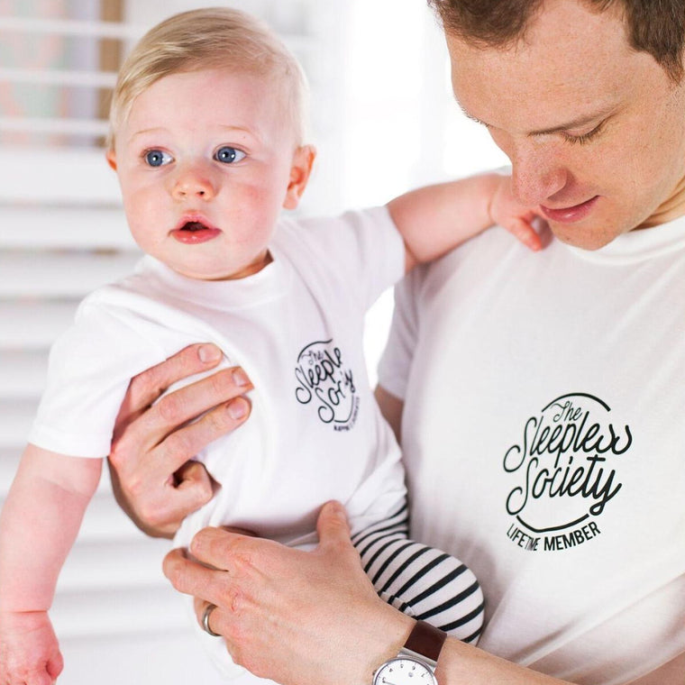 Daddy and Me Sleepless Society T-Shirt Set-clouds-and-currents