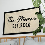 Personalised Anniversary Fabric Wall Art Banner