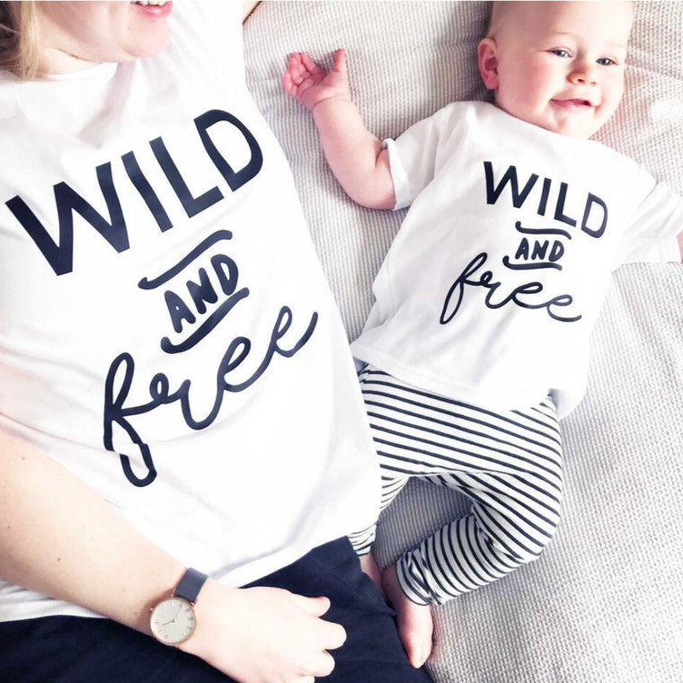 Mummy and Me Wild and Free T-Shirt Set-clouds-and-currents