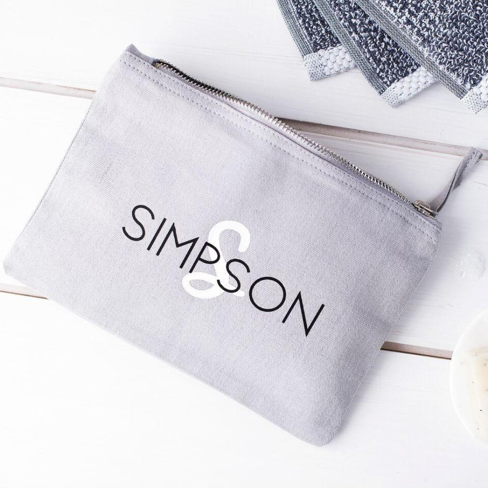 Men's Surname Wash Bag