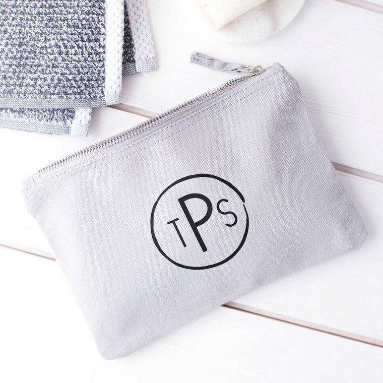 CIRCULAR MONOGRAM WASH BAG