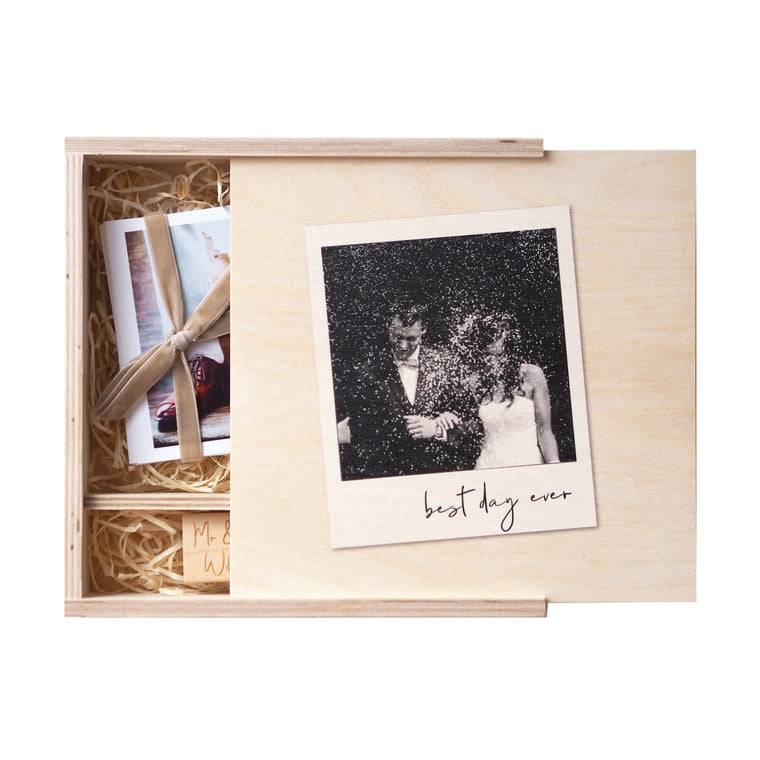 Personalised Wedding Memory Photo Box
