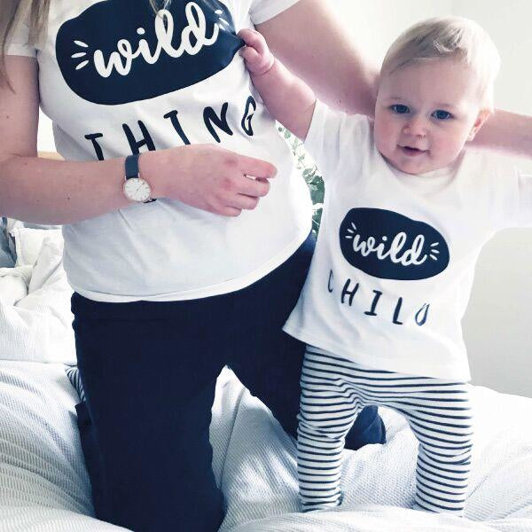 Mummy and Me Wild Thing T Shirt Set