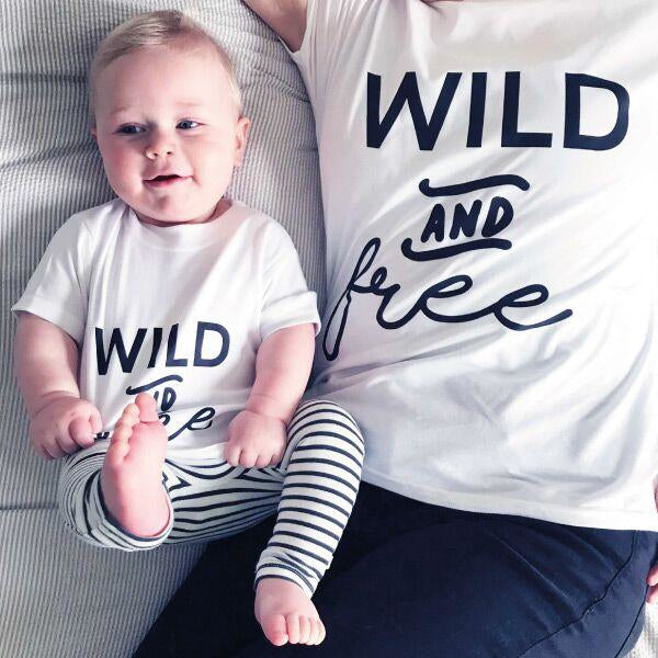 Mummy and Me Wild and Free T Shirt Set