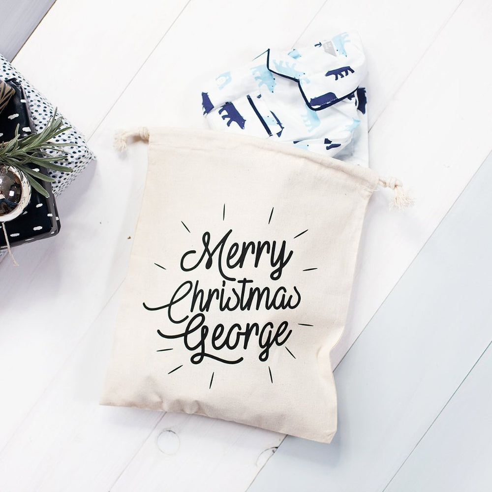 Personalised Merry Christmas Eve Bag
