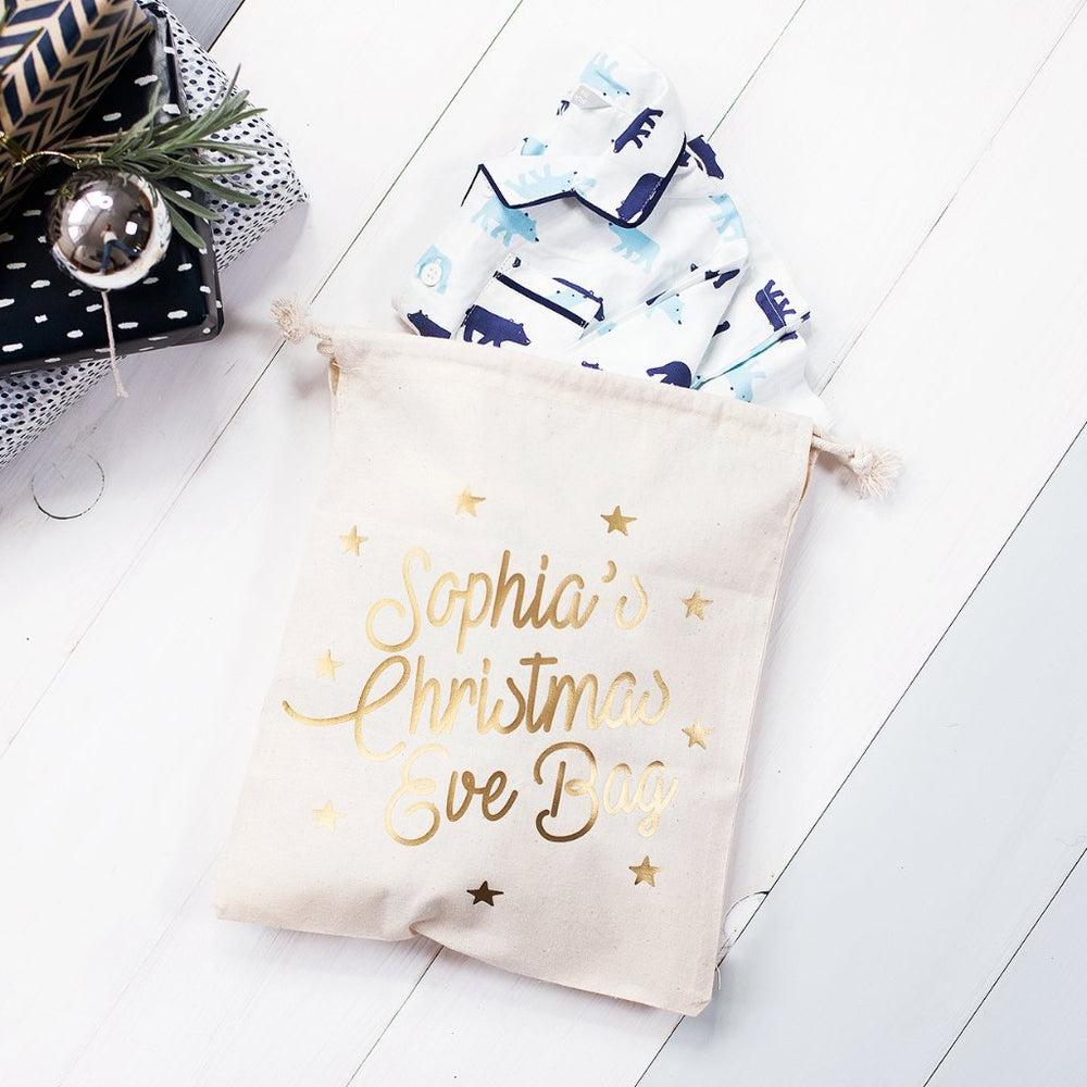 Personalised Christmas Eve BagClouds and Currents