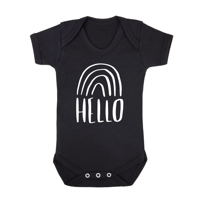 Rainbow New Baby Birth Announcement Bodysuit-clouds-and-currents
