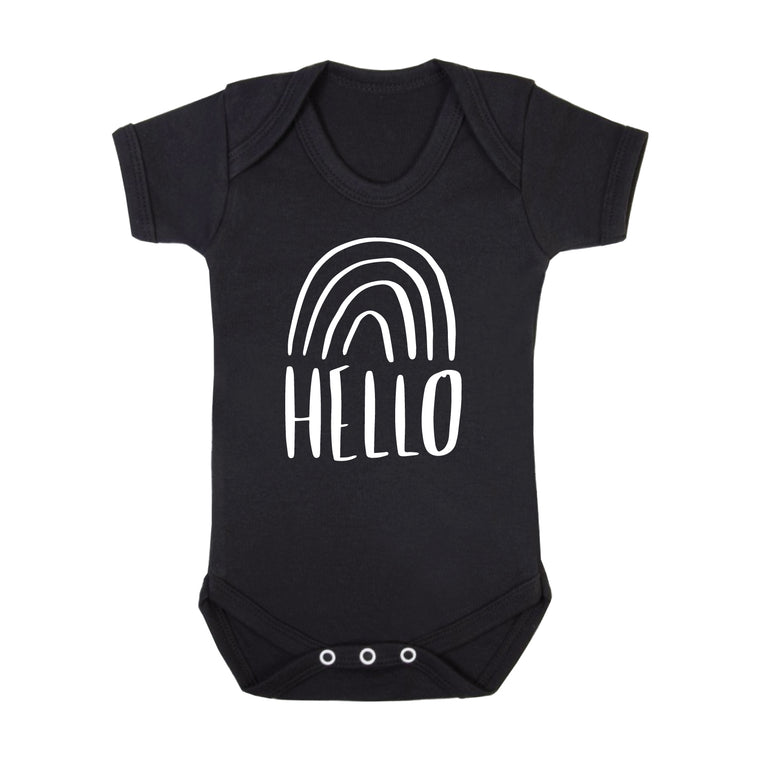 Rainbow New Baby Birth Announcement Bodysuit