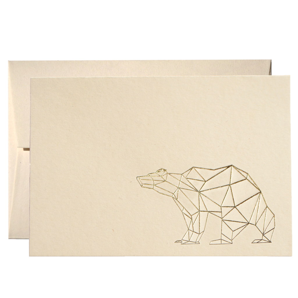 SET OF GEOMETRIC BEAR CARDS (PPSG-04)-clouds-and-currents