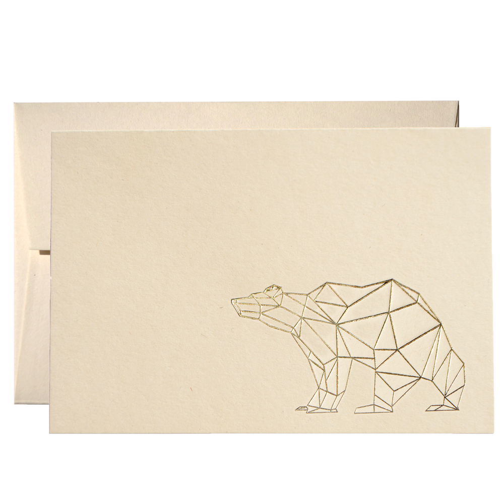 Set Of 50 Geometric Bear Cards (PPSG-04)Clouds and Currents