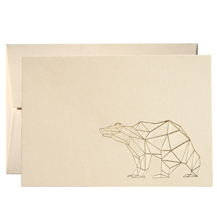 SET OF GEOMETRIC BEAR CARDS (PPSG-04)