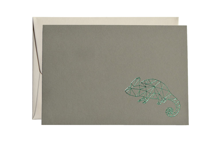 GEOMETRIC CHAMELEON CARD