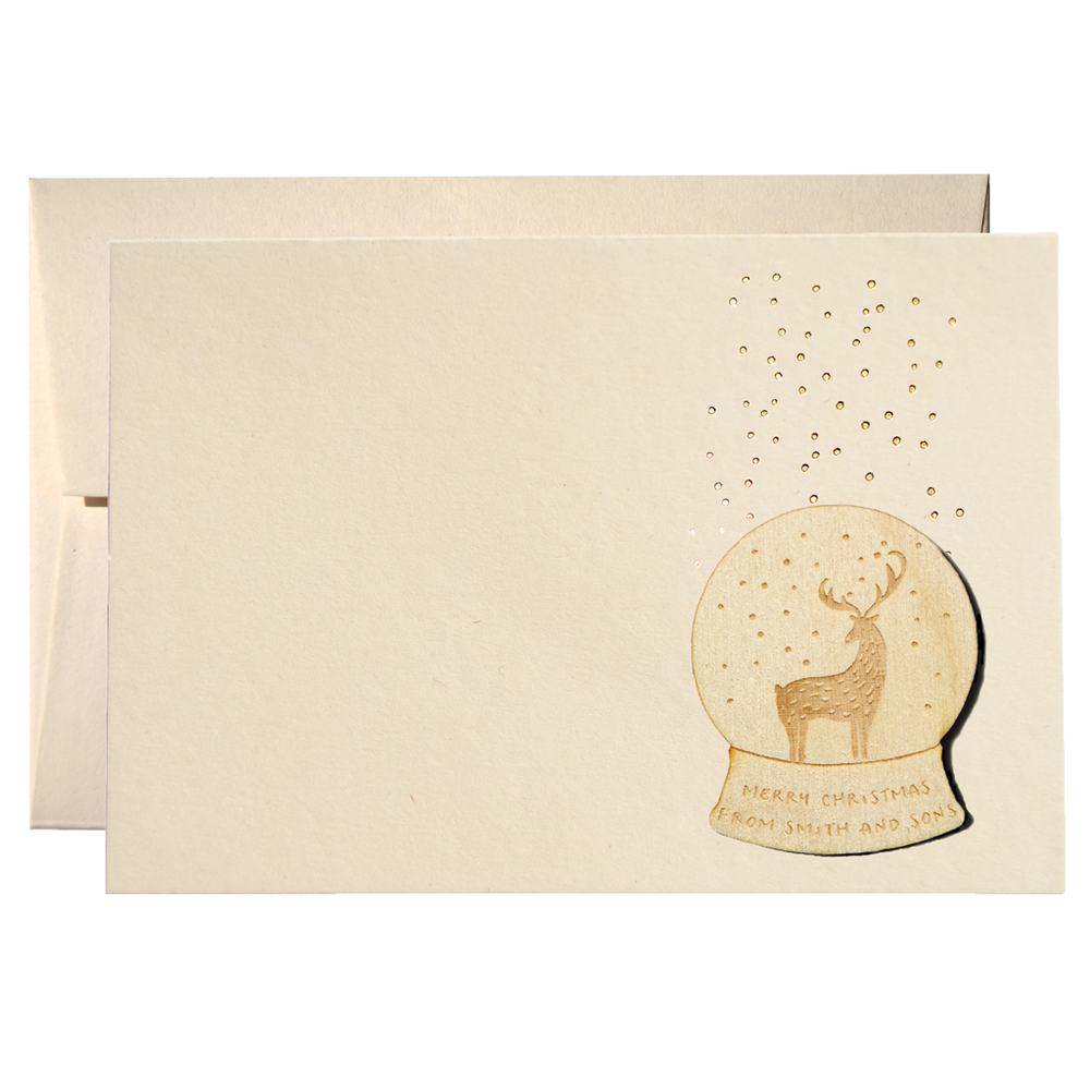 Set Of 50 Snowy Deer Christmas Cards (PPSW-02)Clouds and Currents