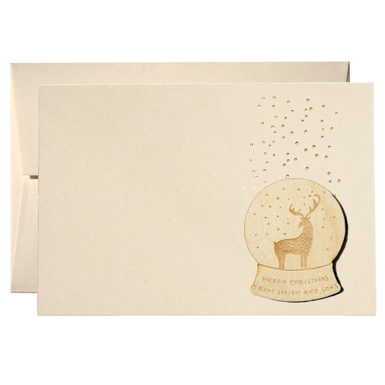 SET OF SNOWY DEER CHRISTMAS CARDS (PPSW-02)