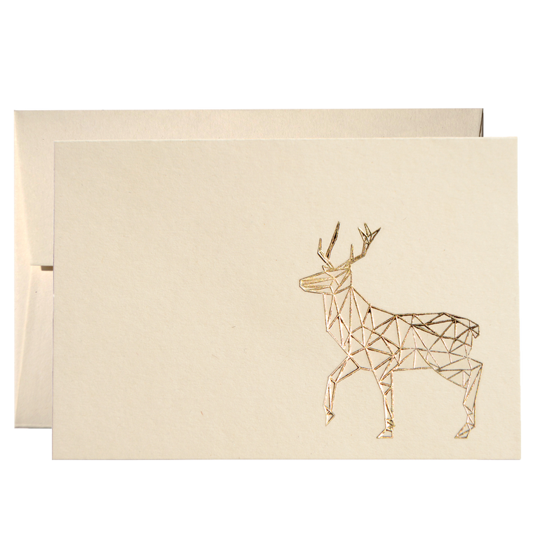 SET OF GEOMETRIC REINDEER CARDS (PPSG-03)