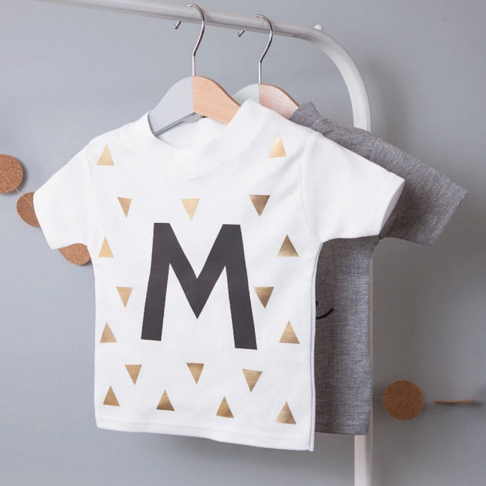 CLEARANCE 'J' Initial Kid's T ShirtClouds and Currents