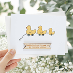 Personalised Duck Family New Baby Card