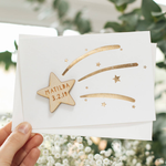 Personalised Wooden Star Baby Card