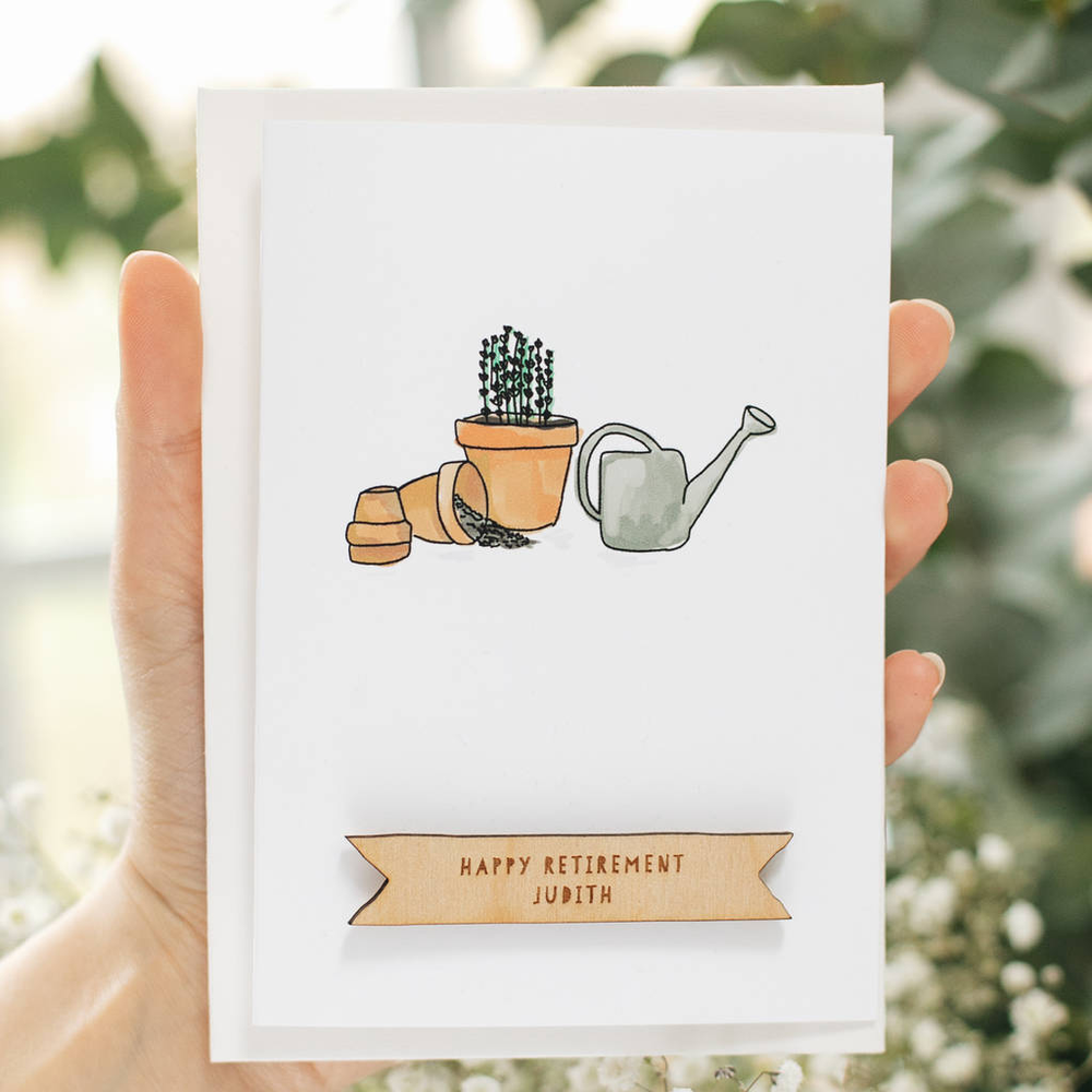 Personalised Gardening Retirement Card
