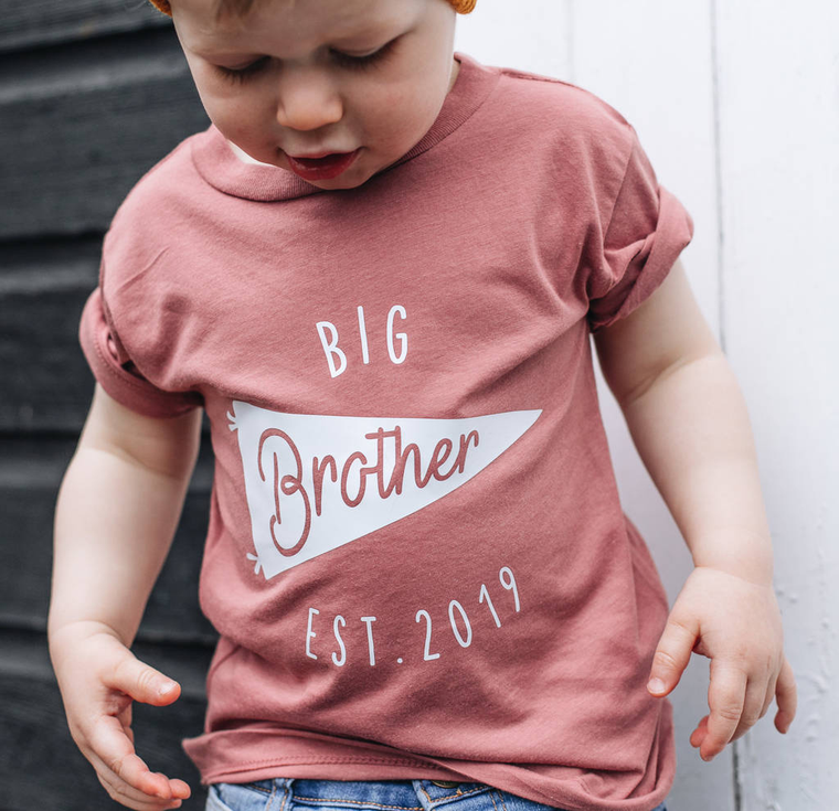 c75760910 PERSONALISED BIG BROTHER NEW BABY SIBLING T SHIRT